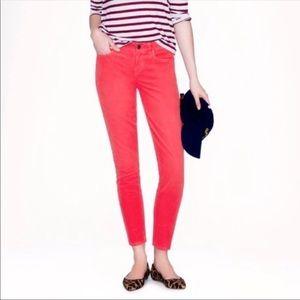 J Crew Corduroy Toothpick Skinny Ankle Jeans Sz 31